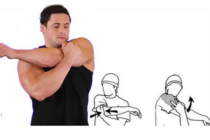 Растяжка задней части плеч