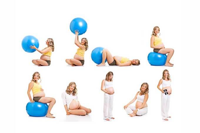 Фитнес упражнения с фитболом для  беременных