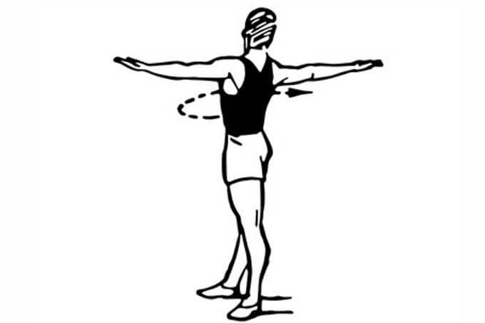 Круговое вращение корпуса